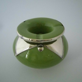 Marokkaanse asbak Sahara M - groen/zilver