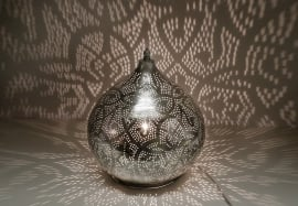 Tafellamp filigrain - groot | zilver
