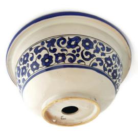 Marokkaanse waskom - 40 cm | Zahra - blauw