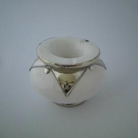 Marokkaanse asbak Sahara L - wit/zilver