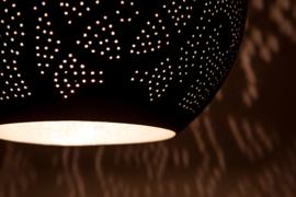 Hanglamp filigrain - druppel zwart/zilver
