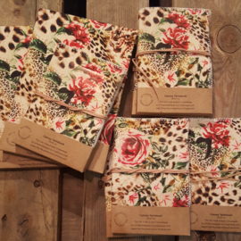 Notitieboek canvas - Roses