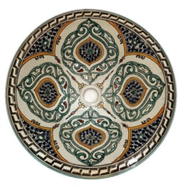 Marokkaanse waskom - 40 cm   Mandala