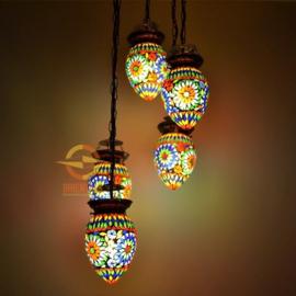 Hanglamp - 5 lampen | Multicolor Papaja | Gereserveerd mw. Eijsberg