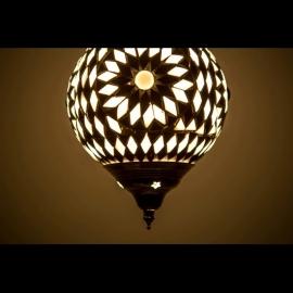 Hanglamp S - Glasmozaiek | zwart/wit
