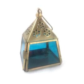 Lantaarn - goud | Madras - turquoise