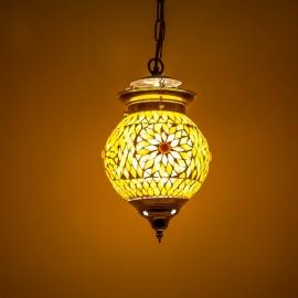 Hanglamp S - Glasmozaiek | bruin