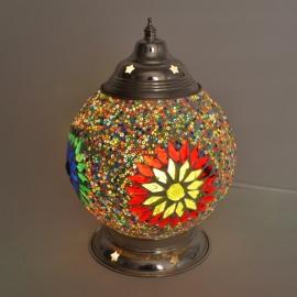 Tafellamp S - Glasmozaiek & kralen | multicolor