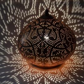 Tafellamp filigrain - groot | koper