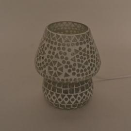 Schemerlamp - Glasmozaiek | wit