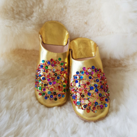 Babouches - goud / multicolor