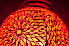 Hanglamp - Papaja | Glasmozaiek | Rood