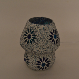 Schemerlamp - Glasmozaiek & Kralen | blauw