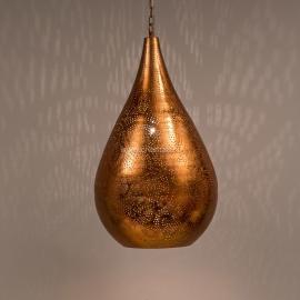 Hanglamp filigrain - druppel | vintage koper