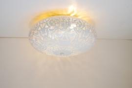 Plafonnière filigrain - wit/goud