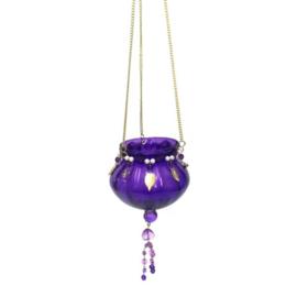 Theelichthouder - hangend | paars