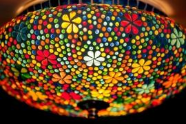 Plafonnière S - Glasmozaiek | Flower Power