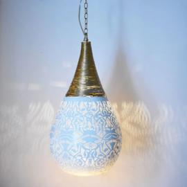 Hanglamp filigrain - wire   wit goud