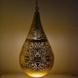 Hanglamp filigrain - wire | vintage goud - groot