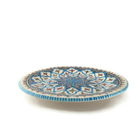 Bord turquoise blue fine - 28 cm.