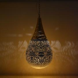 Hanglamp filigrain - wire | wit goud