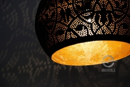Hanglamp filigrain - bol | zwart/goud