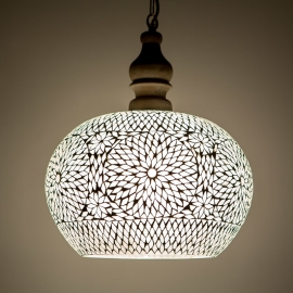 Hanglamp Open - L | wit