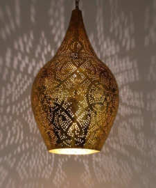 Hanglamp filigrain - vaas | vintage goud