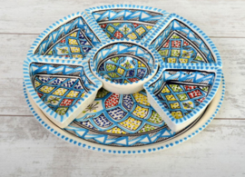 Tapas set - turquoise blue