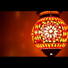 Hanglamp S - Glasmozaiek | rood