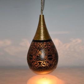 Hanglamp filigrain - wire | zwart/goud - groot