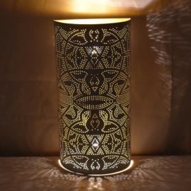 Wandlamp filigrain | wit goud