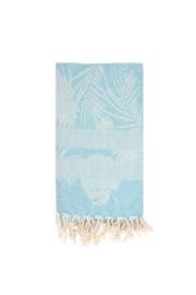 Hamamdoek | Palmbladeren | blauw