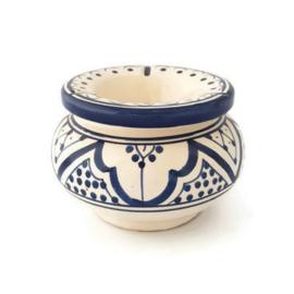 Asbak Safi S  - wit / blauw