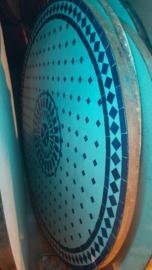 Mozaiek tafelbladen - 100 cm