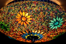 Plafonnière S - Glasmozaiek & kralen | multicolor