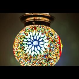 Hanglamp S - Glasmozaiek & kralen | multicolor