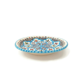 Bord turquoise blue fine - 25 cm