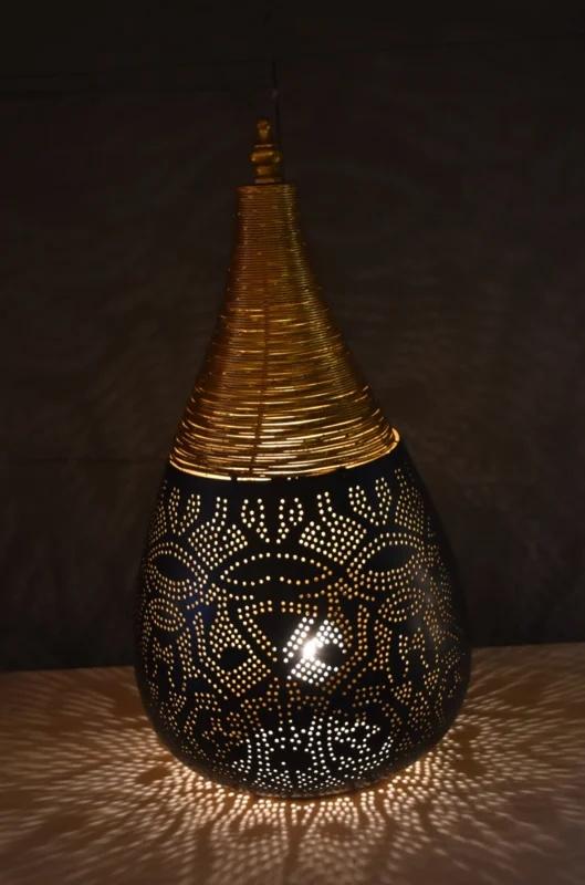 Tafellamp filigrain - wire | zwart goud