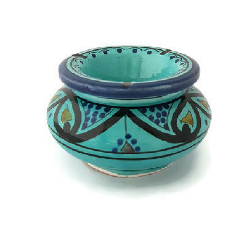 Asbak Safi M - turquoise