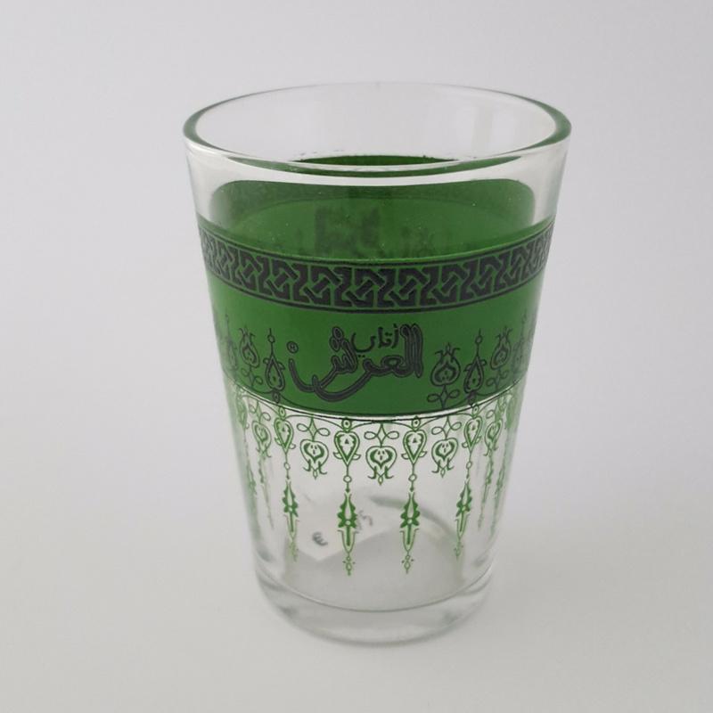 Arabisch theeglas - groen