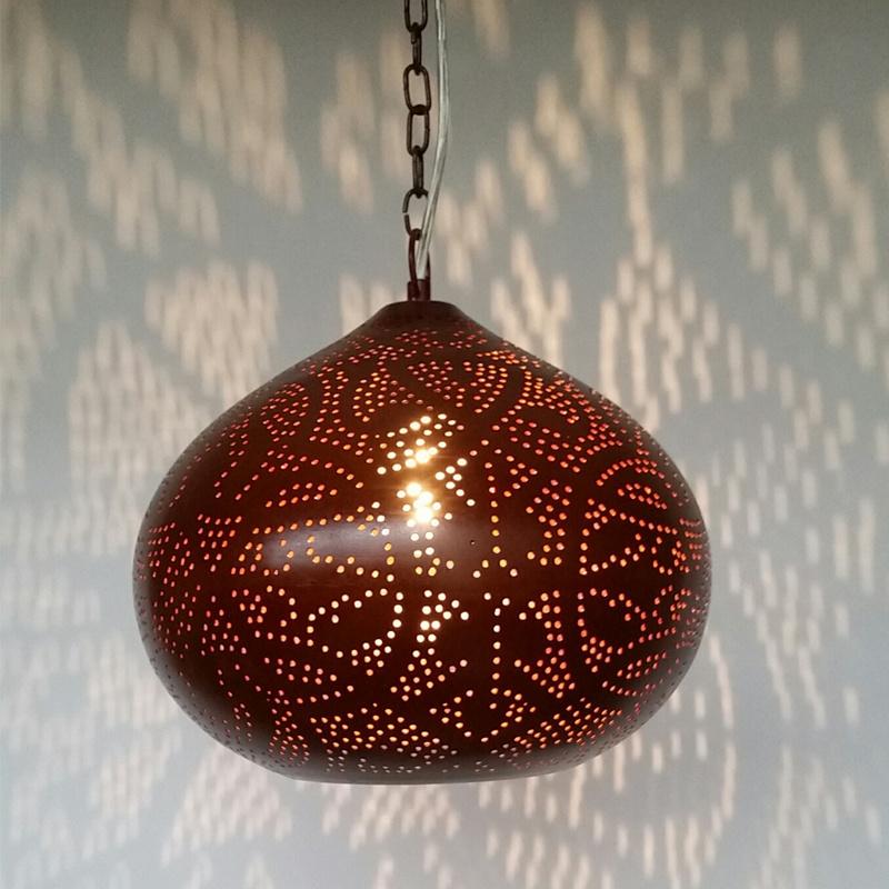 Hanglamp filigrain - klein | roestbruin