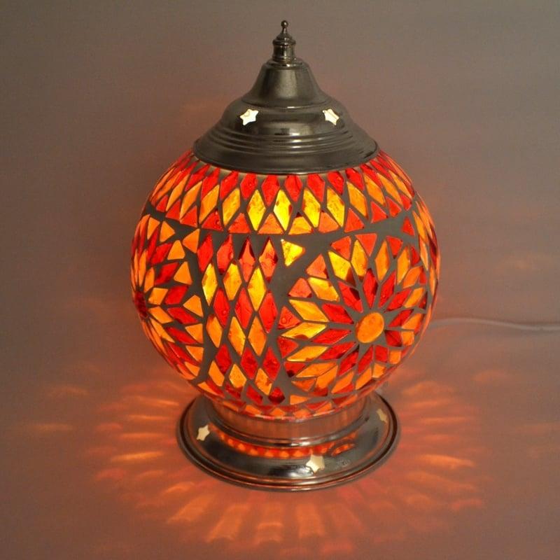 Tafellamp S - Glasmozaiek   rood