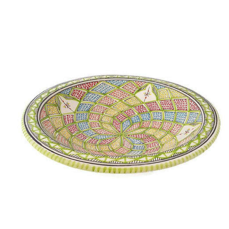 Platte schaal - 30 cm   pistache