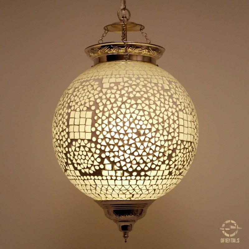 Hanglamp L - wit/transparant