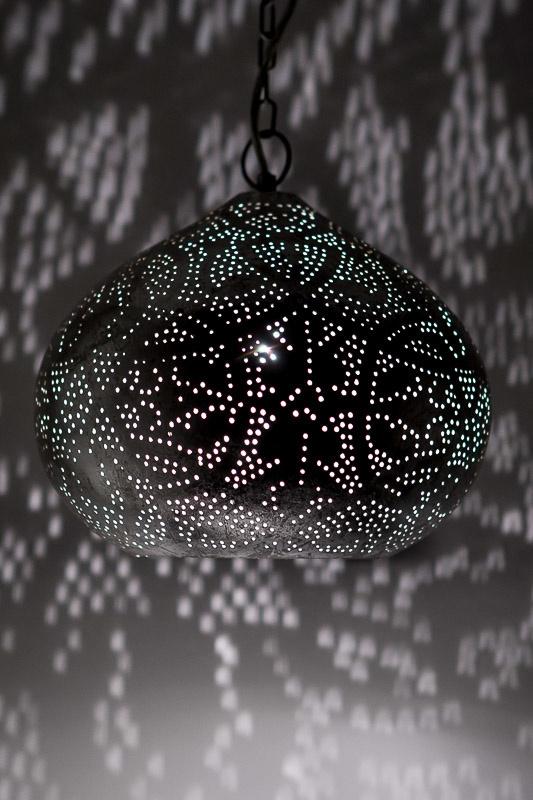 Hanglamp filigrain - klein | vintage zilver