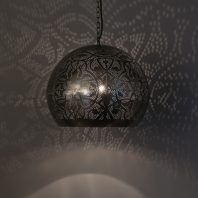 Hanglamp filigrain - bol | zilver