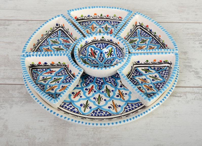 Tapas set - turquoise blue fine