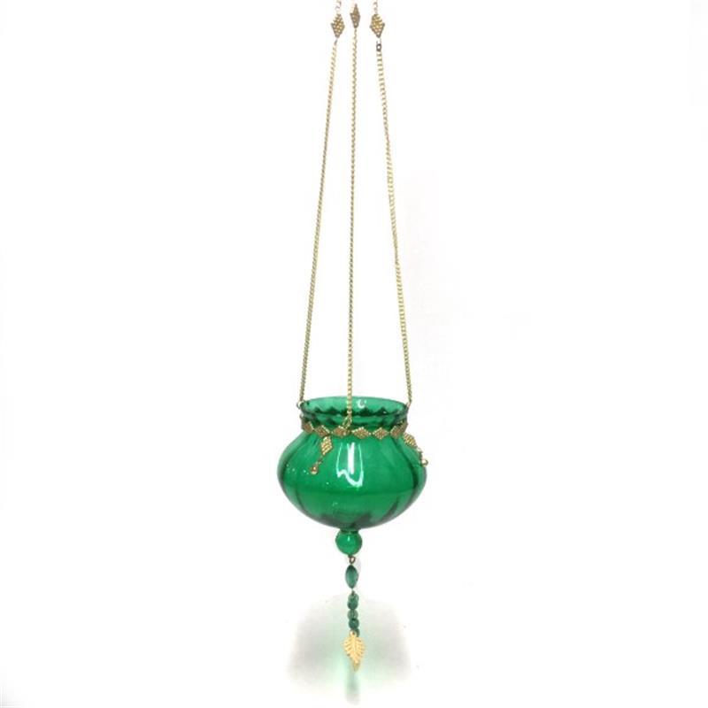 Theelichthouder - hangend | groen