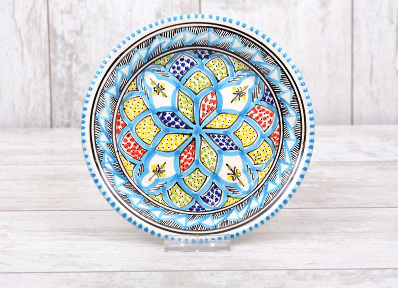 Gebaksbordje - turquoise blue - 15 cm